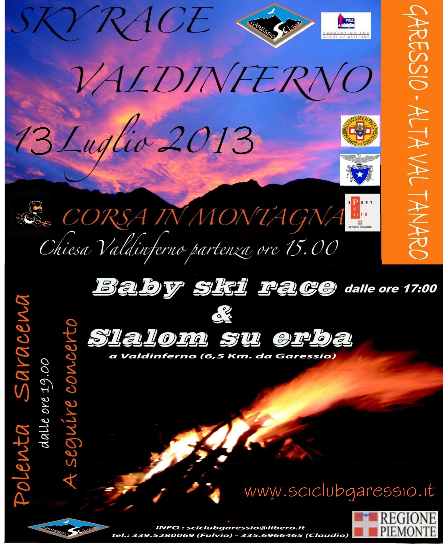 SKY RACE VALDINFERNO - Sabato 13 Luglio 2013 - CORSA IN MONTAGNA